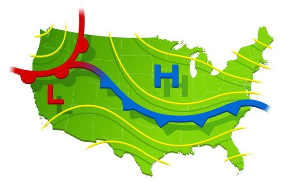 Högtryck och lågtryck – läromedel i geografi åk 7,8,9